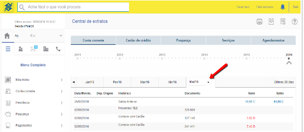Como exportar o extrato bancário em arquivo OFX no Banco do Brasil