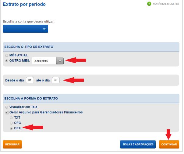 Como exportar o extrato bancário em arquivo OFX na Caixa